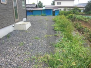 施工前:隣地境界