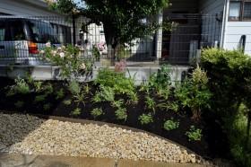 立体的な花壇スペース
