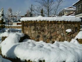 真冬の展示場
