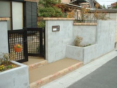 塀とアプローチのリフォーム